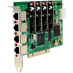 Placa VB0404 PCI - 4 canais (2FXS/2FXO) - Com cancelamento de eco por DSP ou Software