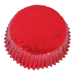 Forminha para Cupcake Vermelha Metalizada 