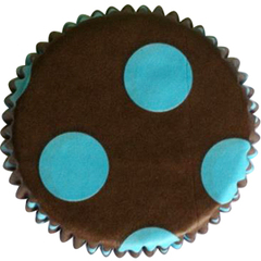 Forminhas Cupcake Marrom com Azul N0- Mago