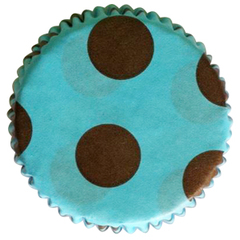 Forminhas Cupcake Azul com Marrom N0- Mago