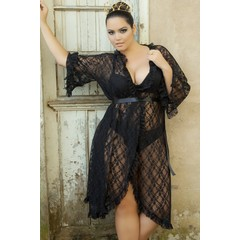 Robe renda Plus Size Vislumbre 714