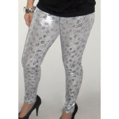 Legging Cirre Animal Print Cobra Prata